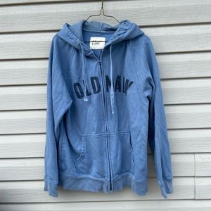 Old Navy Men's Large Hoodie Blue Full Zip